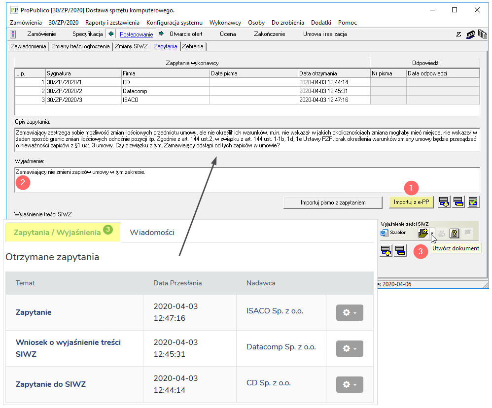 Funkcje użytkowe Platforma e ProPublico 8