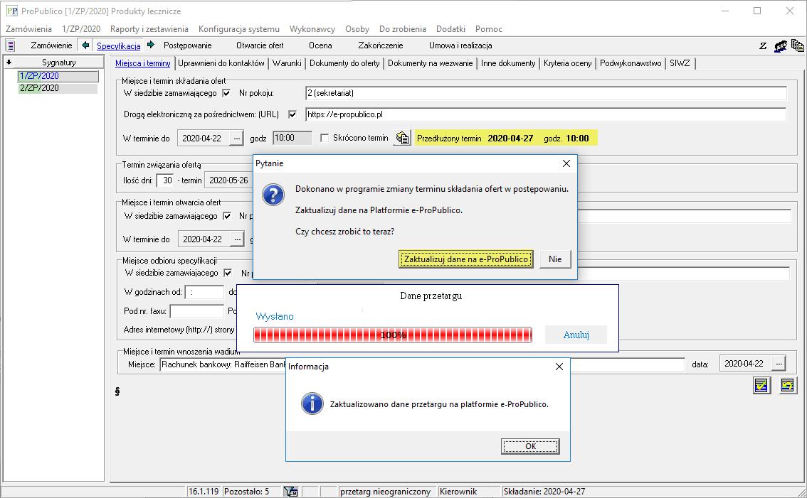 Zmiany w programie ProPublico wersja 16.1.119